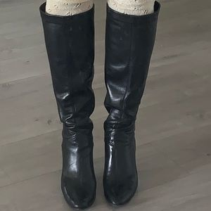 Soft genuine leather tall boots